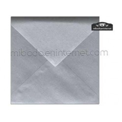 Sobre 17x17 Metalizado Plata - STARPLATA