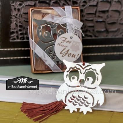 Marcapáginas Buho con borla marrón y caja regalo incluida.