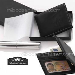 Billetera caballero clásica con caja de regalo