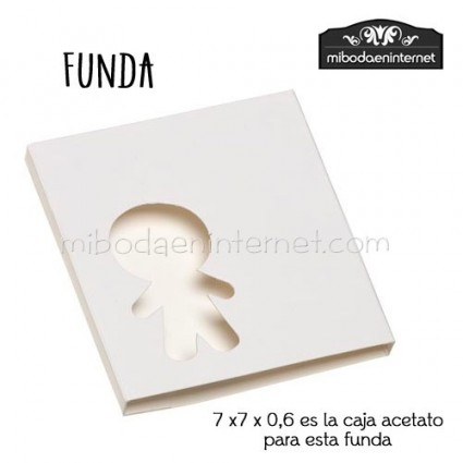 Pack 10 ud Funda Cartulina blanca silueta niño