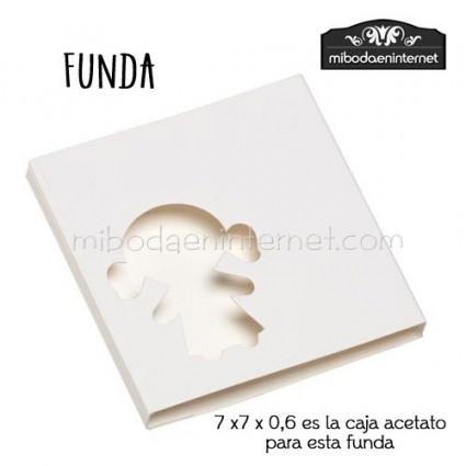 Pack 10 ud Funda Cartulina blanca silueta niña