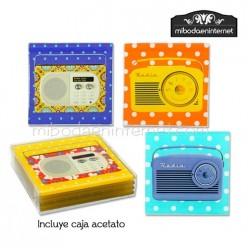 Posavasos Cristal Diseño Radios