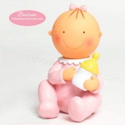 Figura Pastel Hucha Pita sentada Biberón 15cm