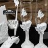 Detalles de las mariposas en base y en cristal