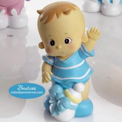 Hucha Bebé Celeste Pelitos