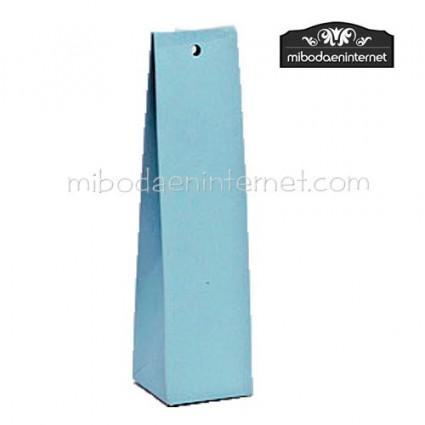 Caja alta cartón lisa celeste 14x3,5x3,5