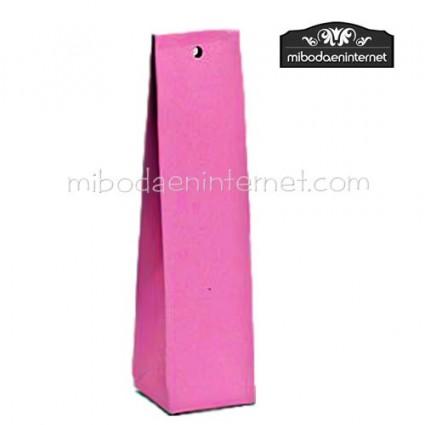 Caja alta cartón lisa rosa fucsia 14x3,5x3,5