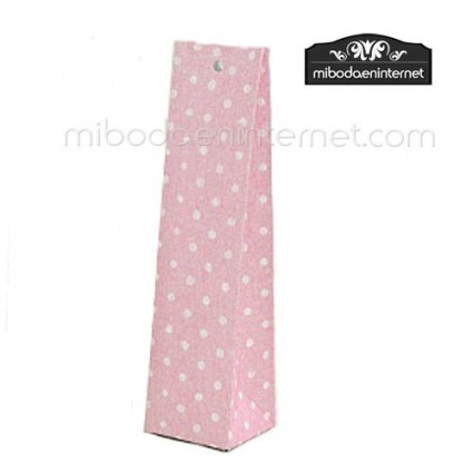 Caja alta cartón lunares rosa 14x3,5x3,5