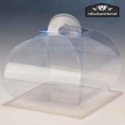 Caja Acetato Transparente Ovalada 7 x7 cms