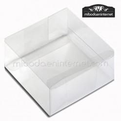 Caja Acetato Transparente Cuadrada 12x12x4 cms
