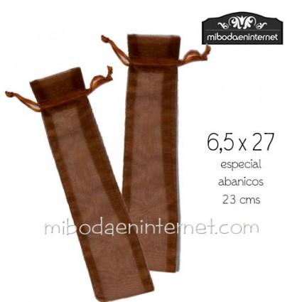 Bolsa Organza abanico x27 color cobre