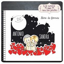 Libro de Firmas Boda Noches de Amor