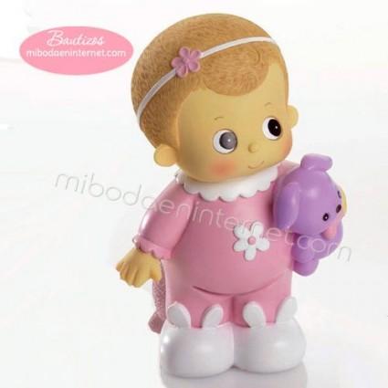 Hucha Bebé Rosa Diadema
