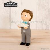 Figura pastel niño cojin anillos Pop & Fun 11 cms.