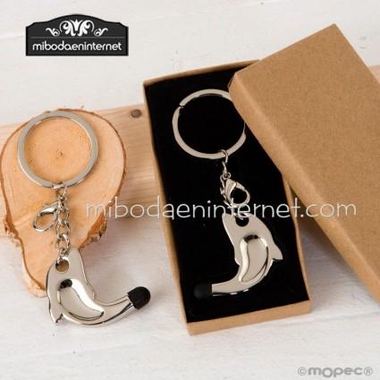 Llavero / Colgante Delfín con puntero táctil y caja