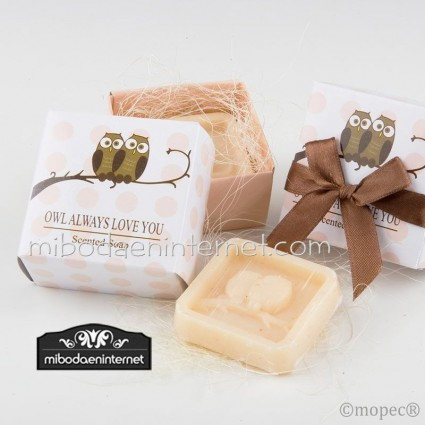 Jabón Buhos en caja decorada