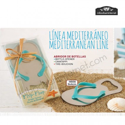 Abridor Metal Botellas Sandalia Playa con presentación