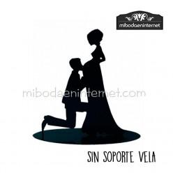 Figura decorativa novia embarazada 18 cms