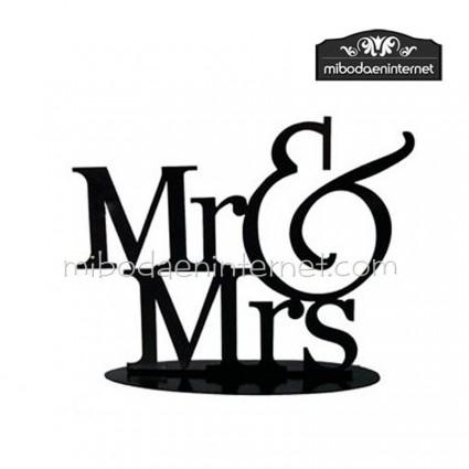 Figura pastel metal MR & MRS