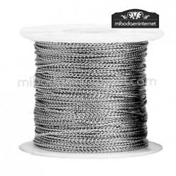 Cordón Color Metalizado Plata 1 mm - Rollo 100 mts