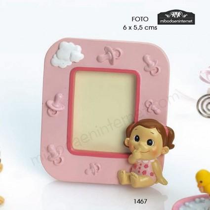 Portafotos Bebé Niña Graciosa Rosa