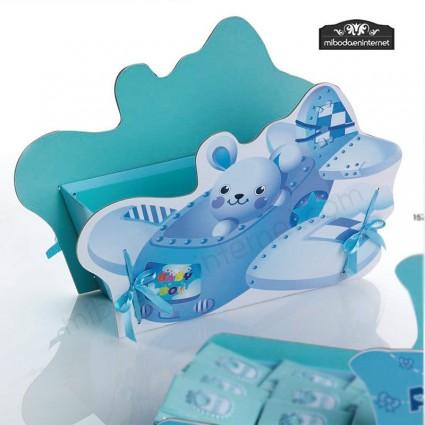Cesto Avión Bebé Azul