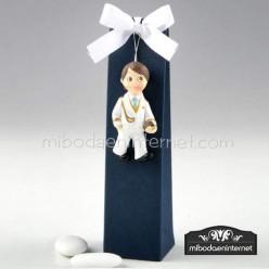 Iman Comunion Niño Almirante Blanco caja 3 peladillas
