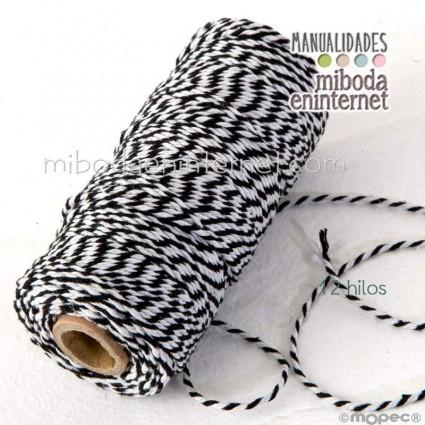 Cordón bicolor Baker's Twine 3mm negro