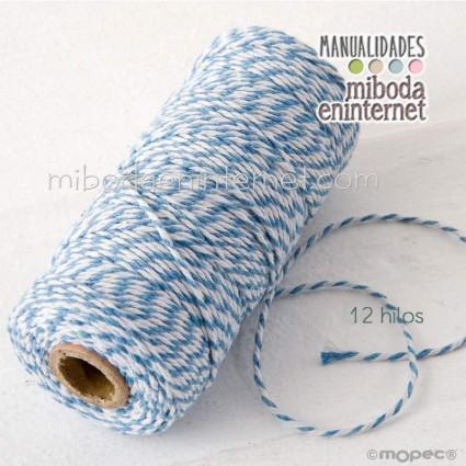 Cordón bicolor Baker's Twine 3mm azul