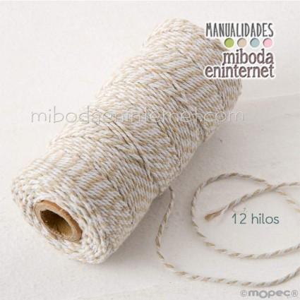 Cordón bicolor Baker's Twine 3mm beig