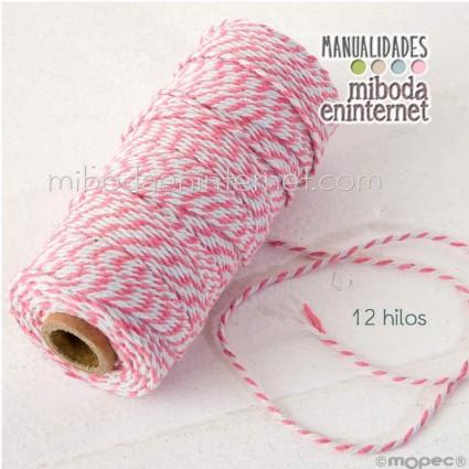 Cordón bicolor Baker's Twine 3mm rosa