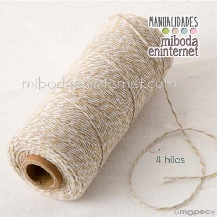 Cordón bicolor Baker's Twine 1mm beig