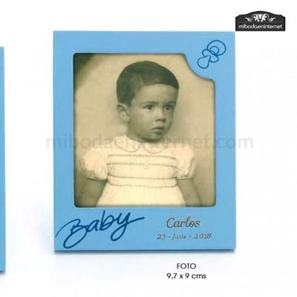 Portafotos Baby Polaroid Celeste