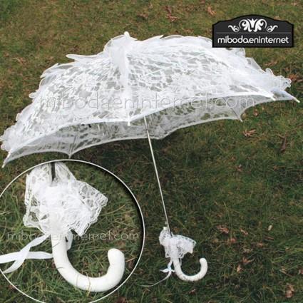 Venta de liquidación gran selección de 2019 estilos de moda Sombrilla blanca encaje novias