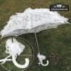 Sombrilla blanca encaje novias