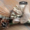 Detalle ramillete rústico vintage para adornar tu boda