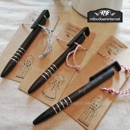 Bolígrafo Soporte Puntero con cartulina kraft personalizada