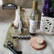 Sacacorchos Forma Botella de Vino Blanco con imán