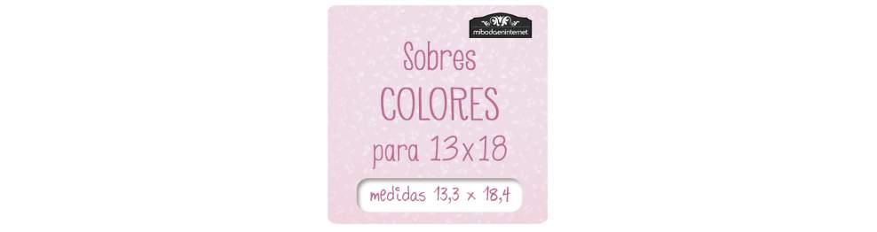 Sobres Colores 13 x 18 cm