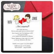 Invitación Boda Aires de amor