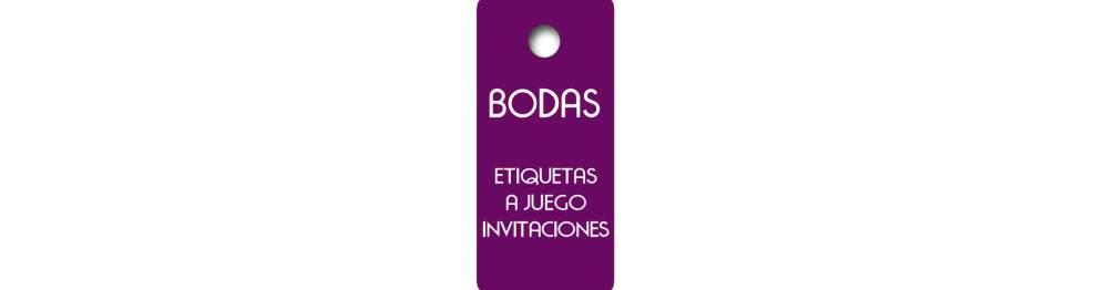 Etiquetas Boda a Juego Invitaciones