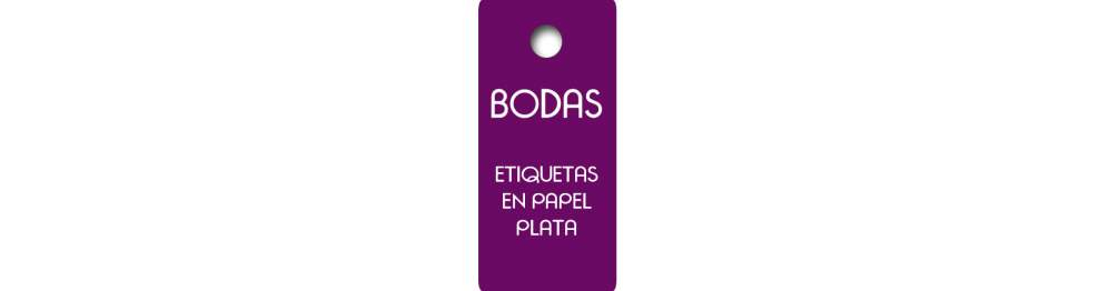 Etiquetas Boda en Plata