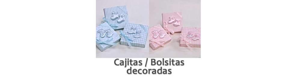 Cajitas y Bolsas Decoradas Bautizo