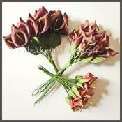 Flores burdeos