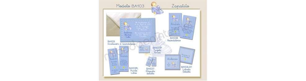 Recordatorio Bautizo Zapatito BA103