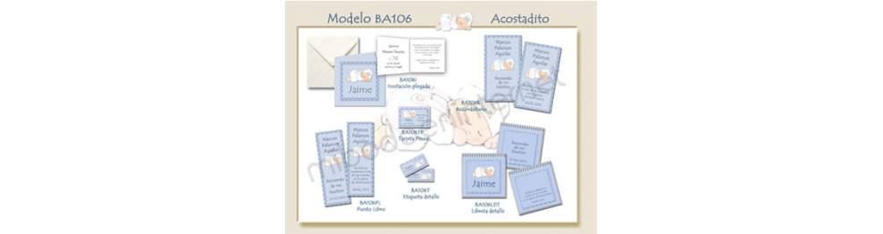 Recordatorio Bautizo Acostadito BA106