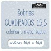 Sobres de Colores Cuadrados 15.5 cm