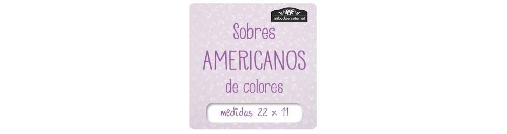 Sobres de Colores Americanos