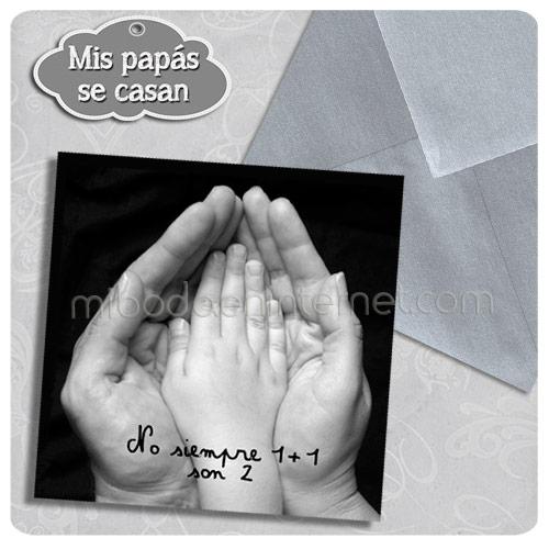 Invitaciónes de bautizo junto con boda - Imagui