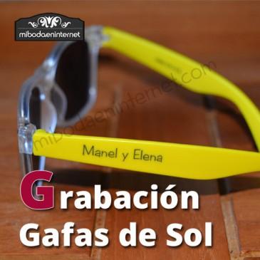 Grabación de Gafas de Sol